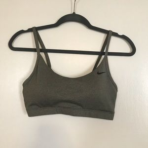 Nike grey dri-fit sports bra